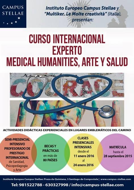 cartel Campus Stellae- Curso Intensivo enero 2016 Medical Humanities, Arte y Salud-